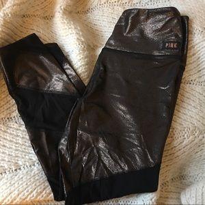 Black/Gold foil Victorias's Secret Leggings